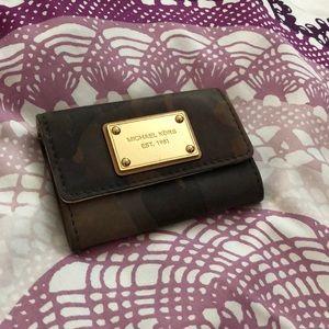 Michael Kors camouflage keychain wallet